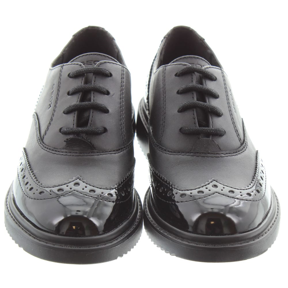 100/% Positive Reviews Ricosta Kate Girls Black Patent Leather School Shoes